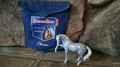 Breyer Stablemate Breyerfest 2013 Chrome Andalusian with Denim Bag