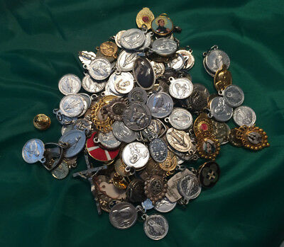 Lot of Roman Catholic Medals, reliquaries and Pins - Oportunity!
