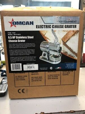 Omcan GR-IT-0373 21719 Commercial Stainless Steel Cheese Grater .5HP Microswitch
