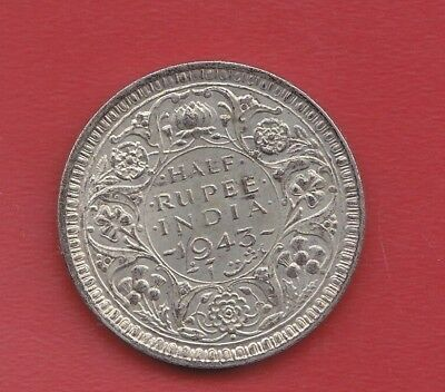 India Half Ruppe 1943 Silver