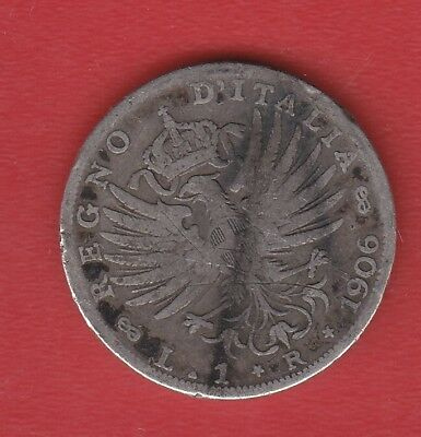 Italy 1 Lier 1906 Silver