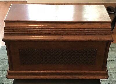 Antique 1893 Singer Treadle Sewing Machine Wooden Top Cover Coffin Case Lid