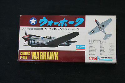 CROWN Bausatz altes Flugzug Curtiss P 40 N Warhawk 1/144 Modell Neu in OVP rar
