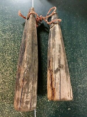 Antique Maine Crab/Lobster Trap Wooden Buoys, Nautical Maritime, NICE DECORATIVE