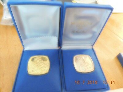 2 Solid Silver Ingots 9 ounces silver