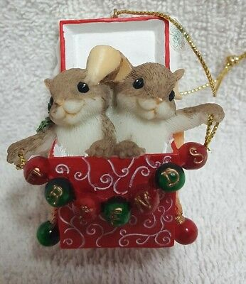 "Charming Tails ""Friends, Everyone's Favorite Gift"" Christmas Ornament"
