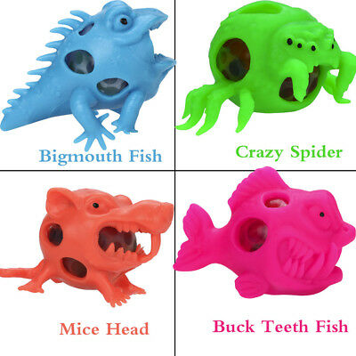 Bigmouth Fish Mesh Ball Stress Squeeze Grape Toys Anxiety Relief Stress Ball Hot