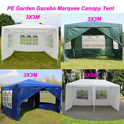 3x3/3x6m 4 Colors Gazebo Marquee Party Wedding Tent Garden Patio Canopy Awning