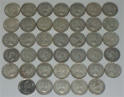 (40) Canadian Silver Quarters (1) Roll Canada Lot