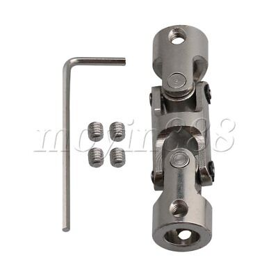 8-8mm Three-section Universal Joint Connector Coupler with M4 Screws
