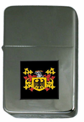 Price Family Crest Surname Coat Of Arms Brown Leather Keyring Engraved
