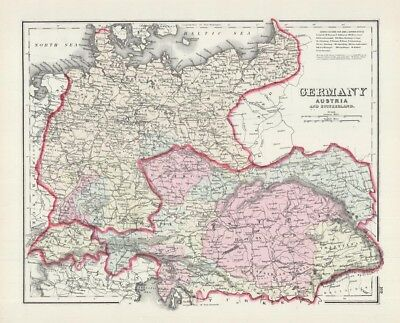 Gray's New Map of Spain & Portugal [and] Germany, Austria & Switzerland