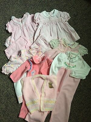 vintage baby girl clothes lot