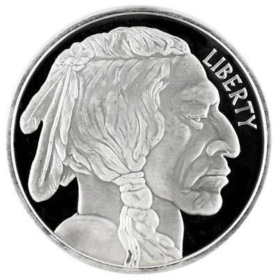 Indian Head/Buffalo silver  bullion round - 1 oz. fine silver 999