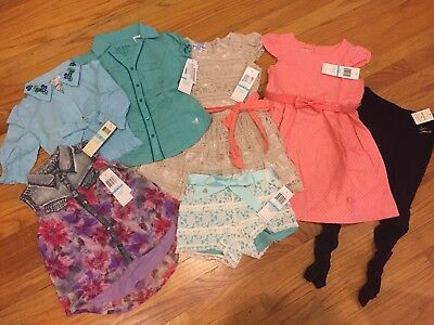 NWT Lot Of 7 PC Guess Girls Top / Pants - Size: 5
