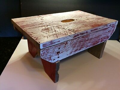 Primitive Cricket Stool - chic and shabby, upcycled antique barn wood ... CUSTOM