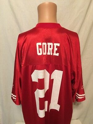 77090dc64 ... store frank gore 21 san francisco 49ers nfl authentic reebok jersey men  size xl 12a1b b0244