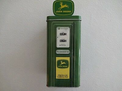 John Deere Gas Pump Coin Bank Made By The Tin Box Company