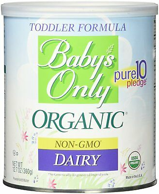 6 PACK - Baby's Only Organic DAIRY NON-GMO Toddler Formula, 12.7 oz Can Exp 9/20