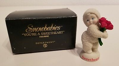 Department 56 SNOWBUNNIES You're a Sweetheart FIGURINE 56.06843