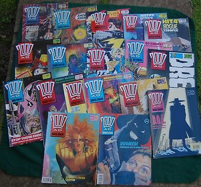 2000AD Comic Book Lot/Bundle/Collection - Vintage 80s 90s Judge Dredd UK Sci-Fi