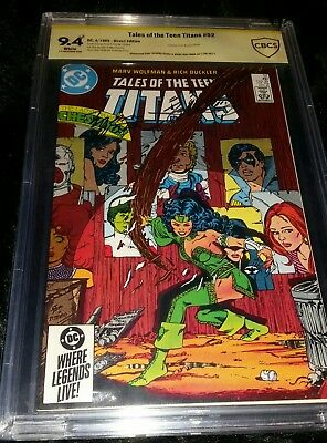 Tales of the Teen Titans #52 CBCS 9.4(cgc pgx) Signed George Perez