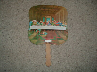 "Vintage Esso fuel/gas church fan ""The Last Supper"" Raleigh, N.C. old advertising"