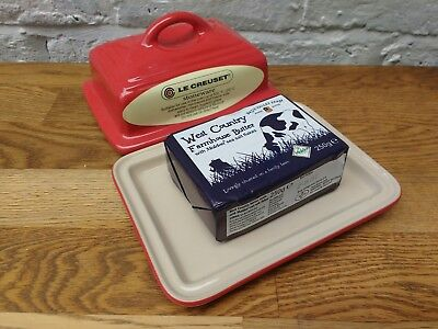 Le Creuset Butter Dish Red Actually Fits a Pack of Butter