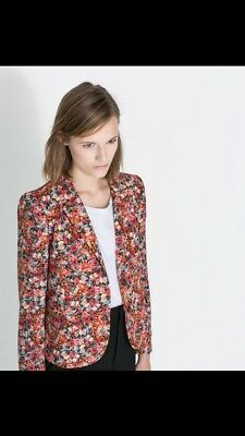 ZARA WOMAN FLORAL BLAZER JACKET COAT Size XS SOLD OUT BNWT!