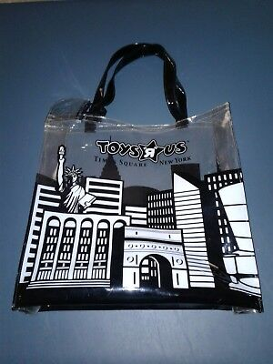 Toys R Us Times Square New York Clear Black Tote Bag Cityscape with Coin Purse