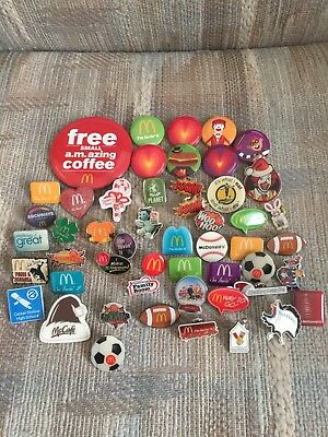 McDonald's employee advertising pins/buttons LOT OF 51