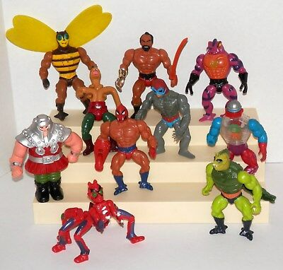 """1980's Vintage He-Man Masters Of The Universe 5.5"""" Figure Lot of 10 Different #1"""