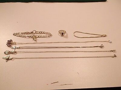 Vintage Lot of Sterling Silver (.925) silver beautiful jewelry (28.8 grams)Mixed
