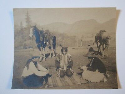 REDUCED !!!    Original Wild West Photo - Cowboy, Indian & Mexican playing cards
