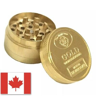 Gold Grinder High Quality Alloy Tobacco Herb 3 Pcs Layer Tobacco Grinder Crusher