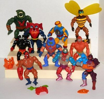 """1980's Vintage He-Man Masters Of The Universe 5.5"""" Figure Lot of 10 Different #2"""