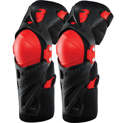 Thor NEW Mx Force XP Adult Dirt Bike Offroad Red Motocross Knee Guards Set