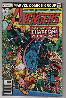 The Avengers #167, Guardians of the Galaxy, 1st App Lady Korvac, FN/VF 7.0