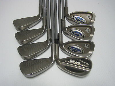 PING i5 BLACK DOT IRON SET 4-PW+54* TOUR SAND WEDGE (8 CLUBS) STEEL SHAFTS