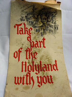 "Vintage ""Take Part Of The Holyland With You"" Tri Fold Made In Israel Folio"