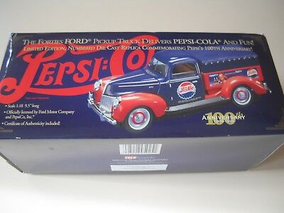 PEPSI COLA The Forties Ford Pickup Truck Limited Edition Die Cast COA Included