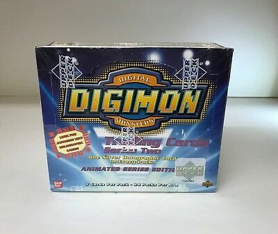 Digimon Digital Monsters Animated Series 2 - Sealed Trading Card Hobby Box