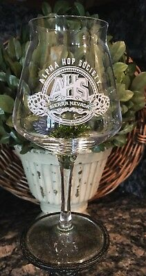EXCLUSIVE Sierra Nevada Beer Club ALPHA HOP SOCIETY ~ Crystal TEKU Glass RASTAL