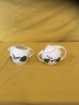 Vintage Blue Ridge Southern Potteries Cream & Sugar -Stanhome Ivy    L