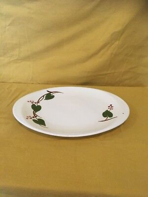 "Blue Ridge Southern Potteries Stanhome Ivy 13 ¾""  Oval  Platter L"