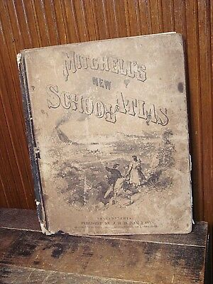 Mitchell's New School Atlas 1876 Series of 44 Copperplate Maps
