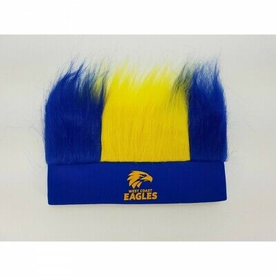 West Coast Eagles Official AFL Unisex Novelty Hairy Headband FREE POST