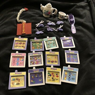 Amazing Ally Doll-Accessories-Booklet-11 Activity Cards-Tea Pot-Cups-Hair Clips-