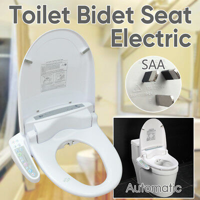 Auto Electric Toilet Bidet Seat Cover Washlet Massage Bathroom Warm Water Dry AU