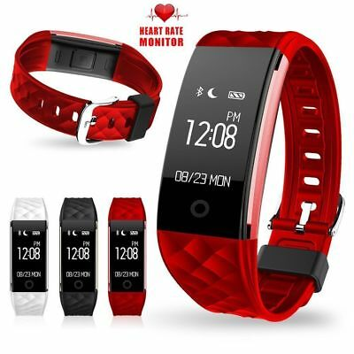 Sports Fitness Tracker Watch IP67 Heart Rate Activity Monitor Fitbit style Strap